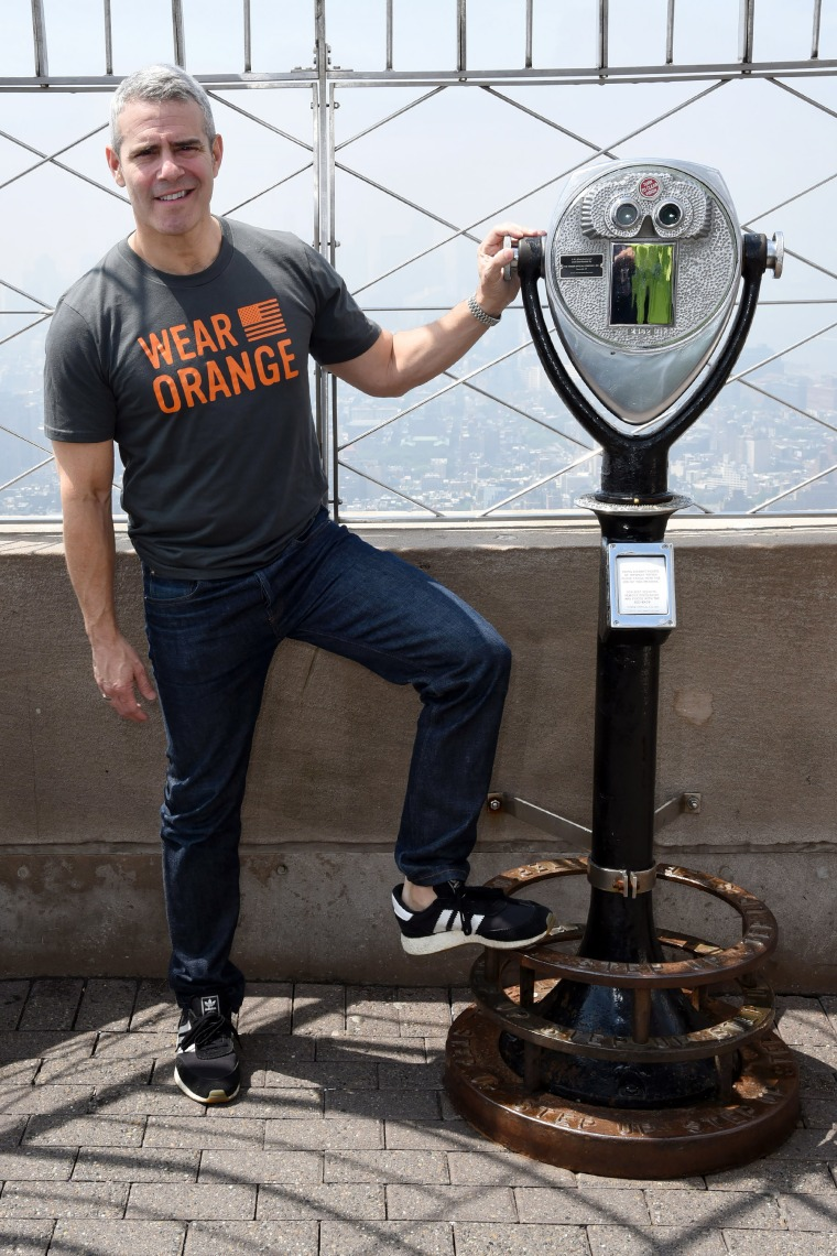 Andy Cohen lights the Empire State Building, NYC