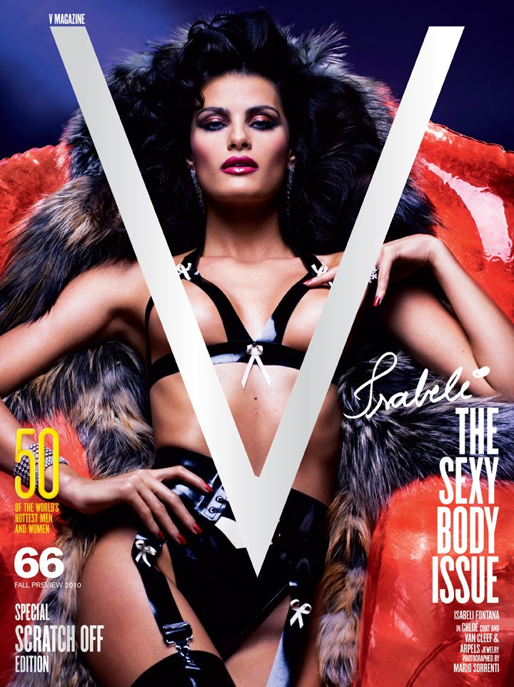 V Magazine Fall Preview 2010 cover photo Mario Sorrenti stylist Andrew Richardson model Isabeli Fontana