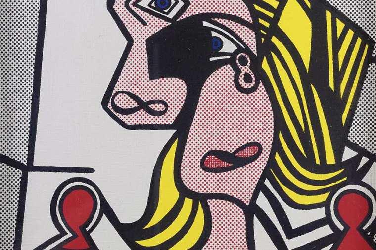 Roy-Lichtenstein-Woman-With-Flowered-Hat-1963-detail