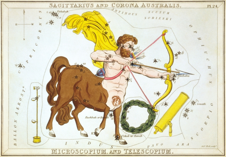 Sidney_Hall_-_Urania's_Mirror_-_Sagittarius_and_Corona_Australis,_Microscopium,_and_Telescopium
