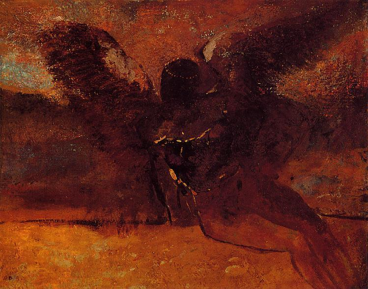 The-Fall-of-Icarus-Odilon-Redon-oil-painting